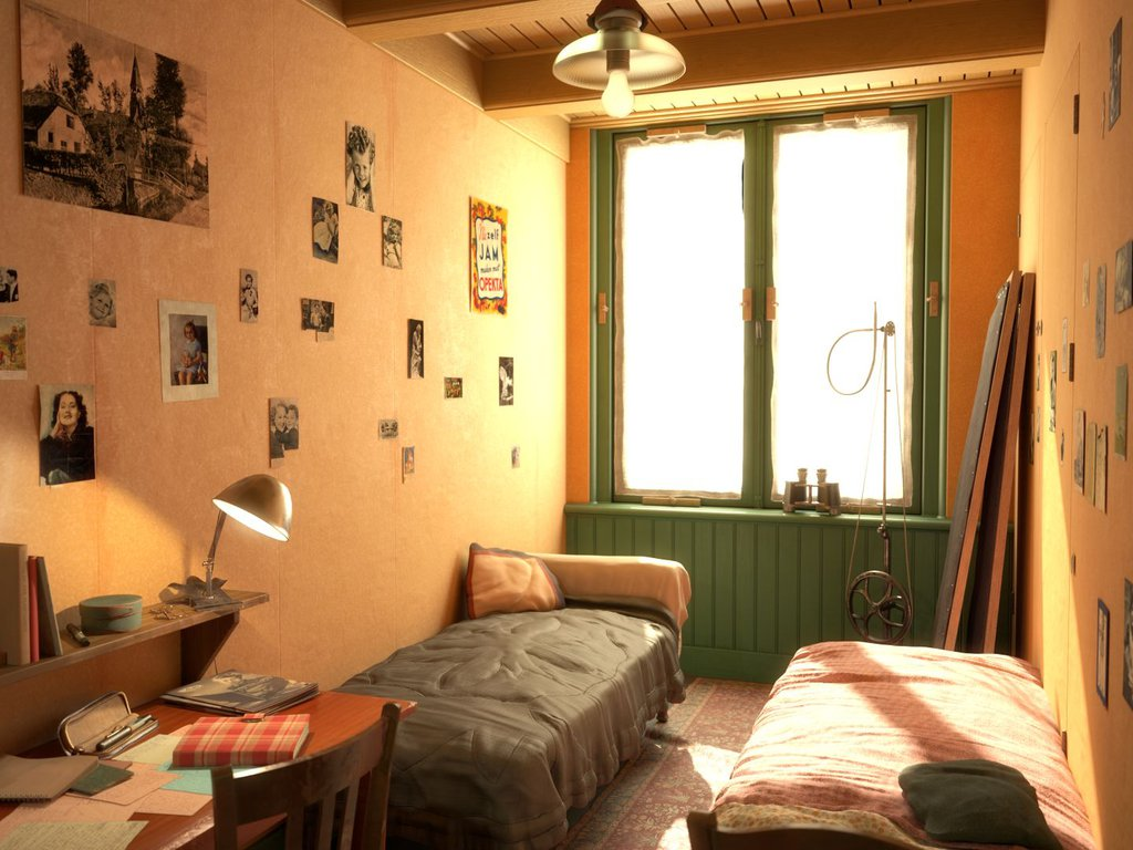 Das Zimmer von Anne und Fritz