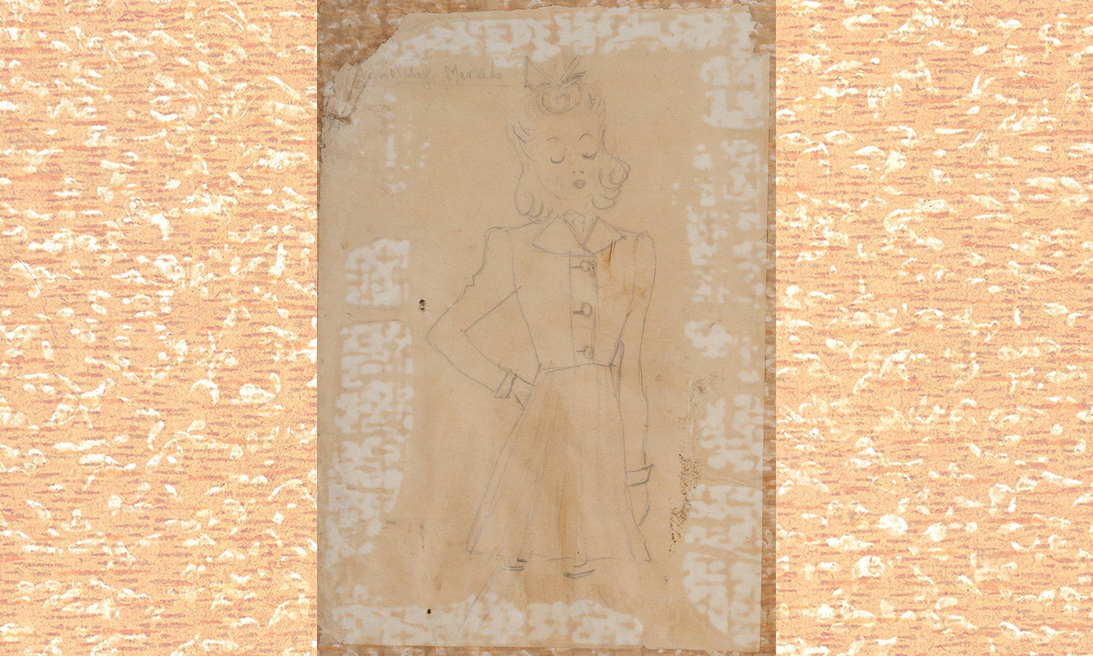 Op de wanden van Annes kamertje hangen twee potloodtekeningen van een meisje. Een tekening is helaas verdwenen. In haar dagboek schrijft Anne dat zij het jammer vindt dat zij niet goed kan tekenen.