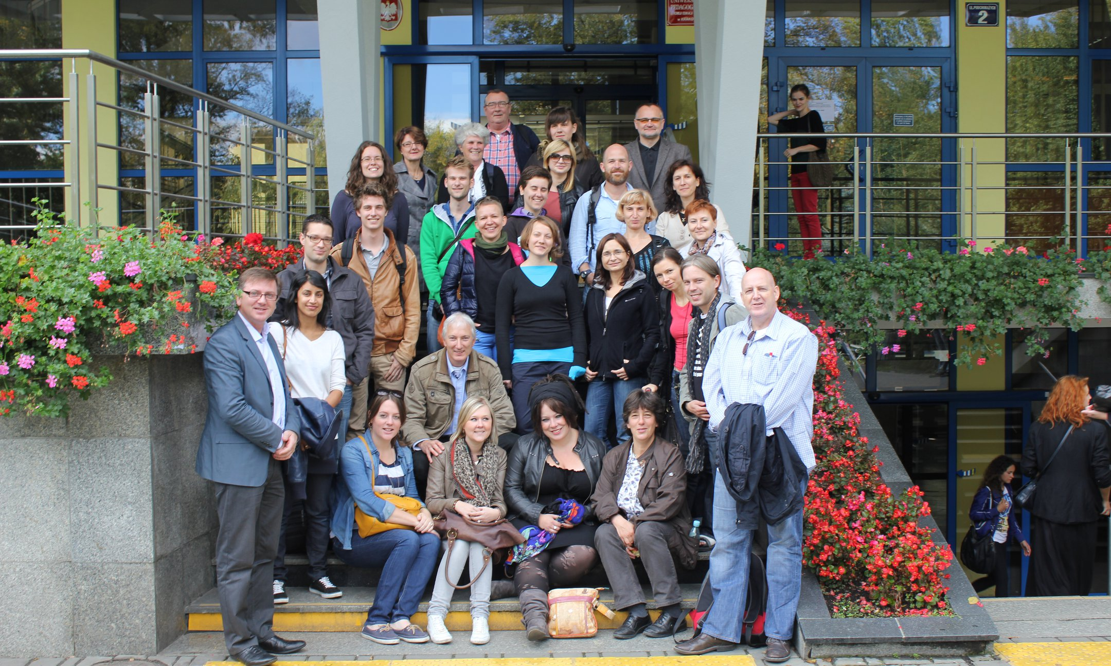 Participants in front of the Pedagogical University in Cracow (September 2012)