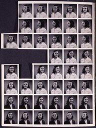 Portrait photo sheet of Margot Frank (1939)