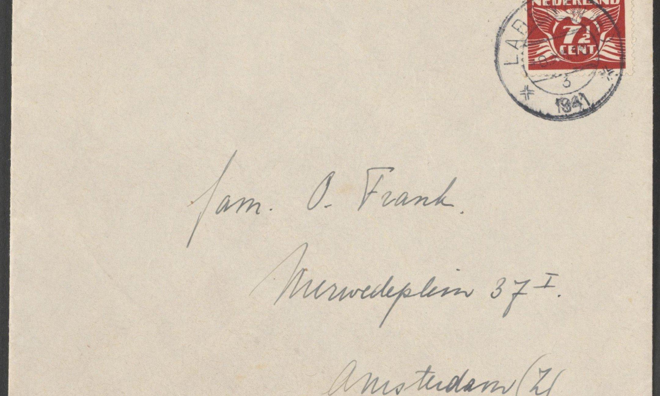 Alle correspondentie van Otto Frank is binnen Metamorfoze gedigitaliseerd. Envelop (1941)