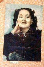 Plaatje van Norma Shearer, een populaire Hollywood filmster uit de jaren dertig.