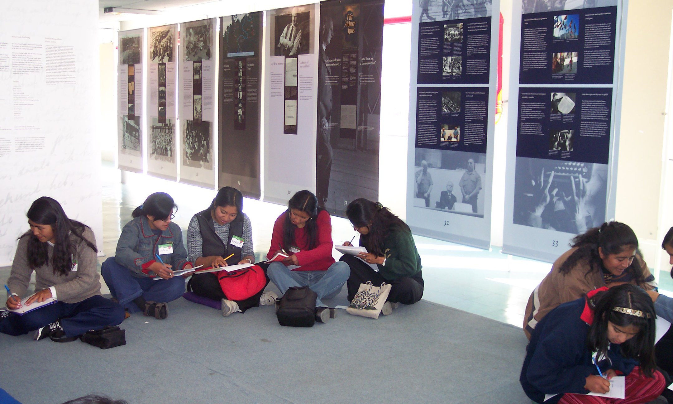 Anne Frank a History for today exhibition, La Paz, Bolivia (2005)