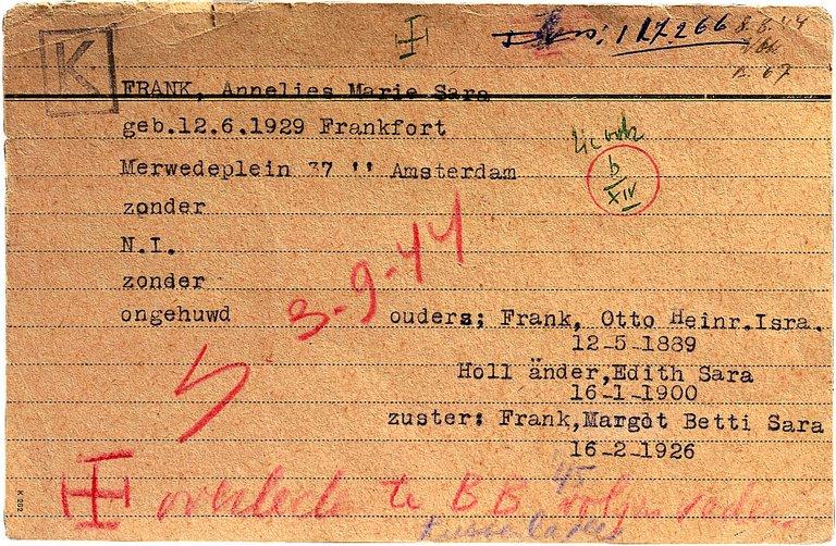 Anne Frank und alle anderen Namen im digitalen Archiv