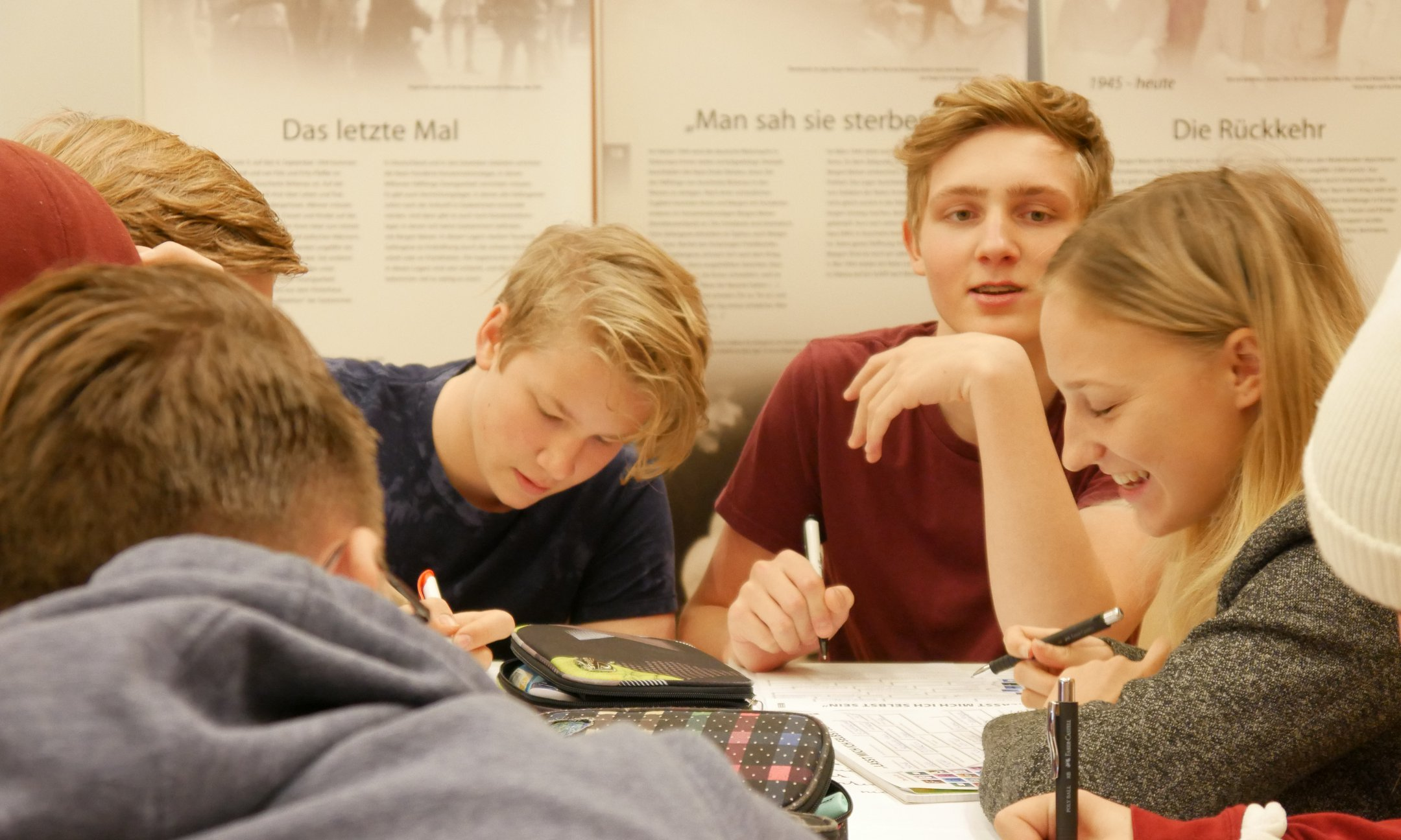 Austrian youngsters during their peer-guide training