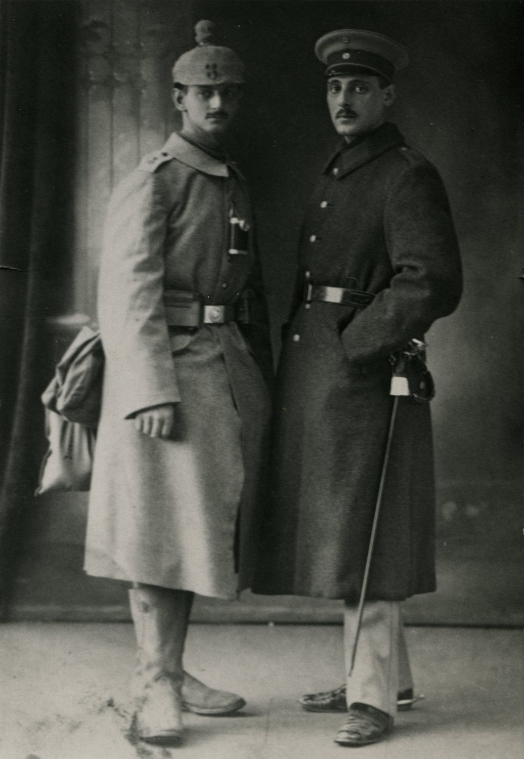 Otto (left) and his brother Robert serving in the German army during the First World War, 1914-1918.