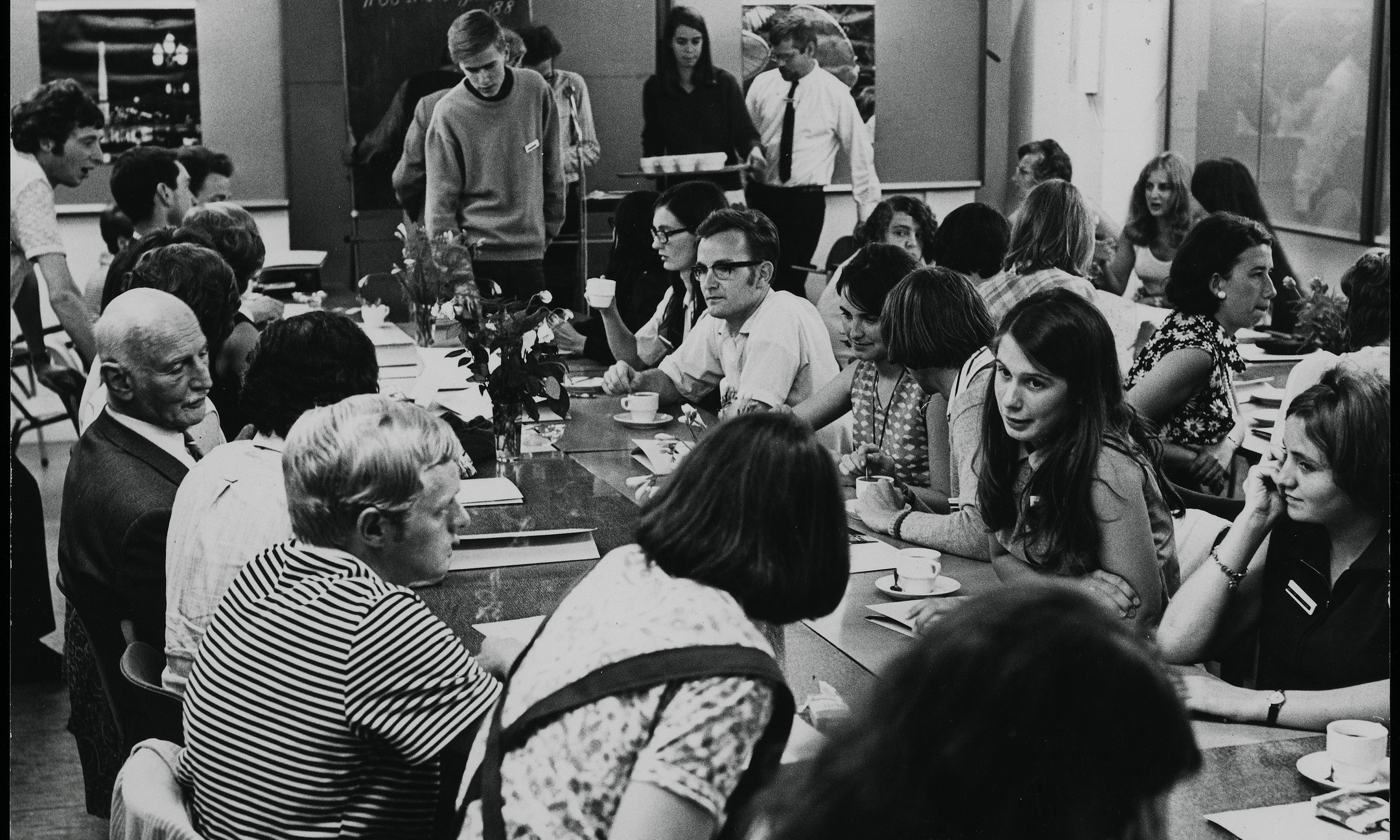 International Youth Conference at the Anne Frank House in 1966, with Otto and Fritzi Frank in the middle
