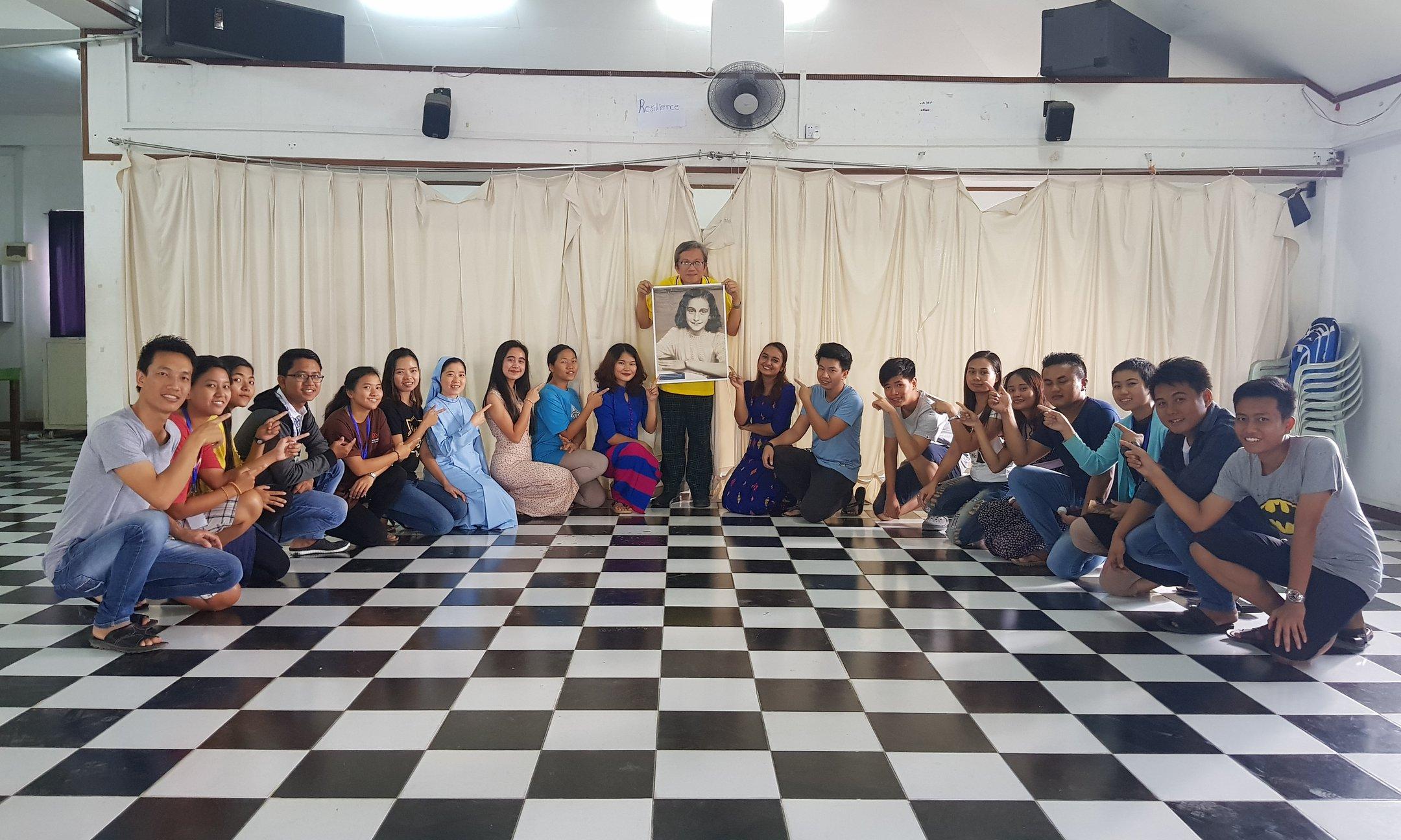 Students in Anne Frank House Workshop in Myanmar