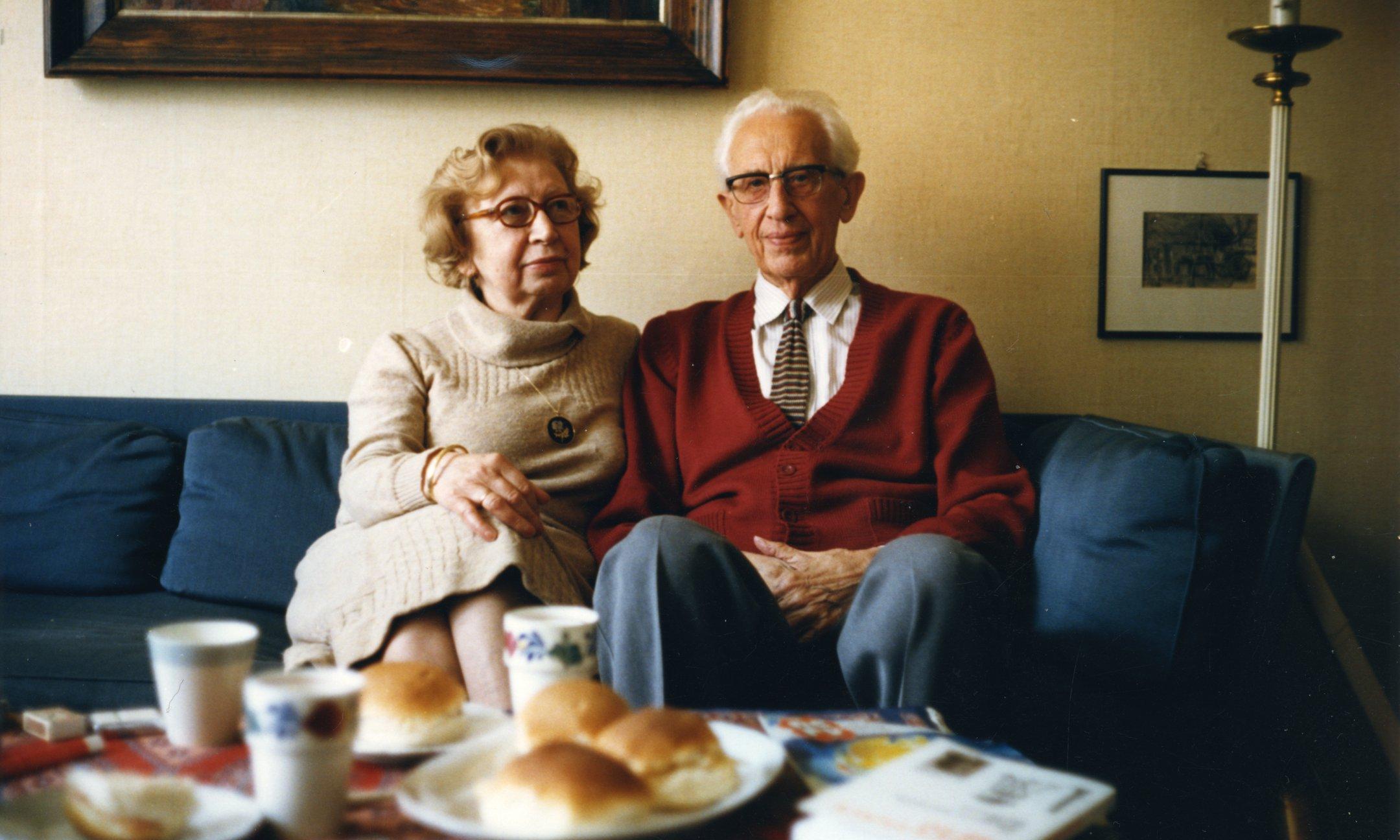 Miep and Jan Gies, around 1990.