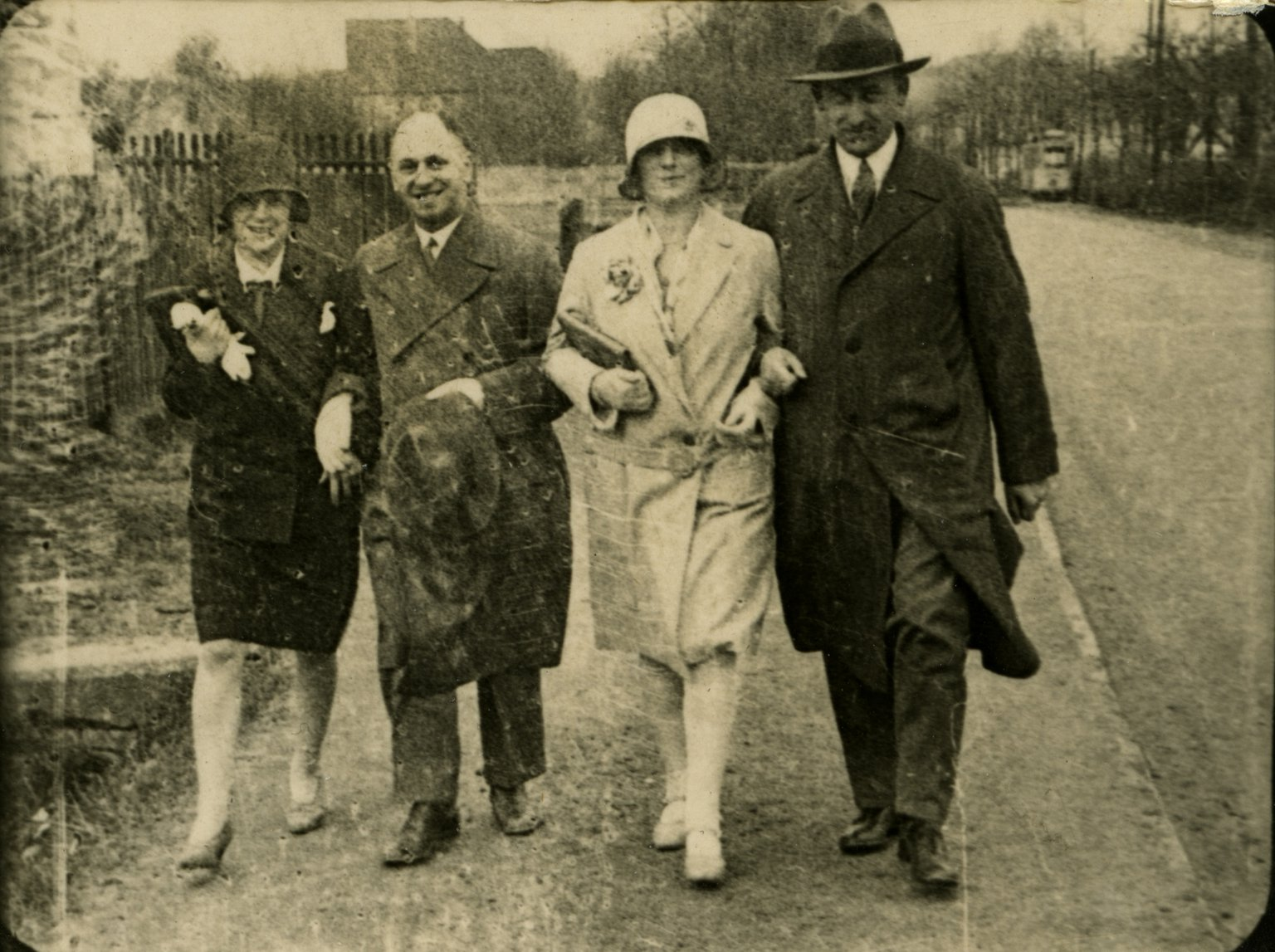 Hermann and Auguste van Pels (far right and far left) with another couple in Osnabrück (Germany), around 1930.