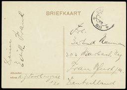 Postcard from Edith Frank to Gertrud Naumann