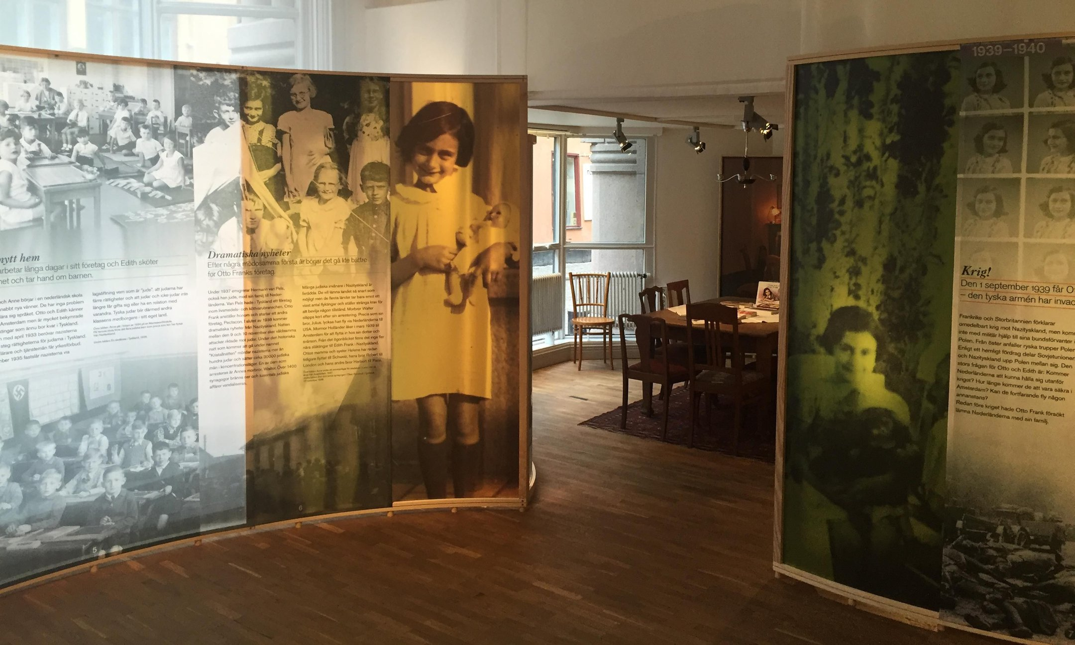 The Anne Frank exhibition in The Living History Forum in Stockholm (February 2016)