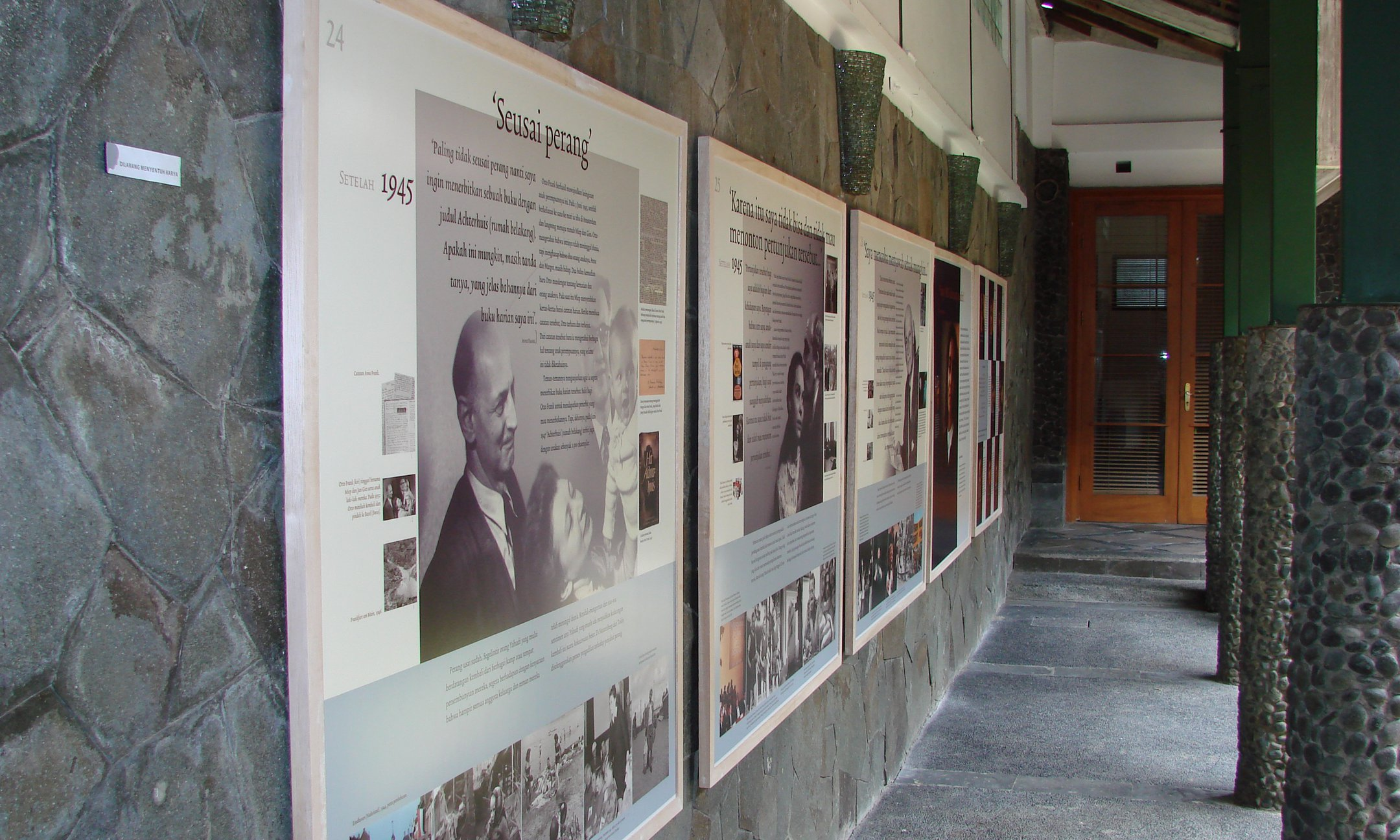 Exhibition 'Anne Frank a History for today' in Bandung, Indonesia