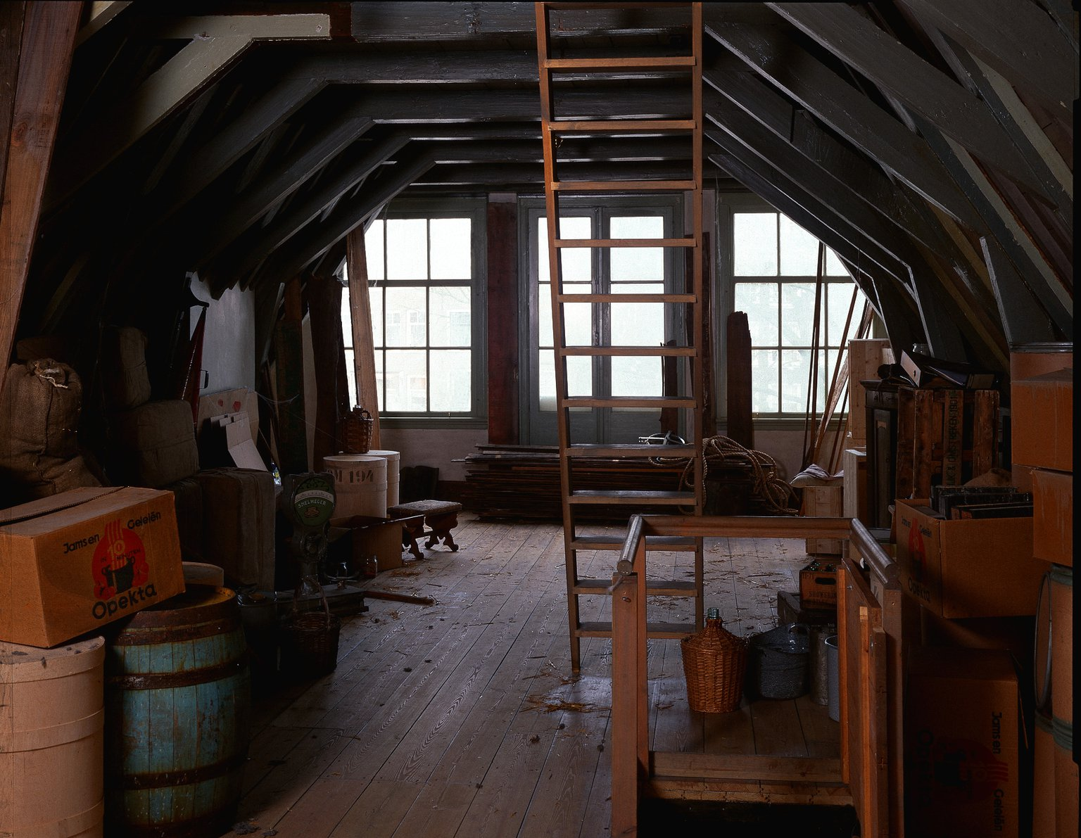 The attic of the main house, reconstruction (1999).