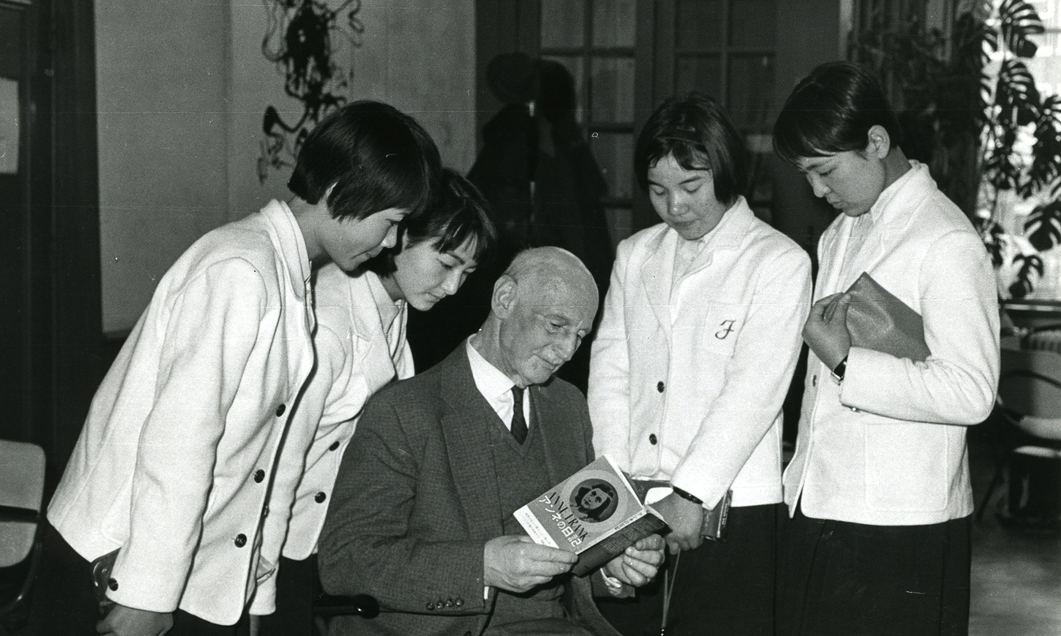 Otto Frank reading the Diary to young people in Japan (1965)