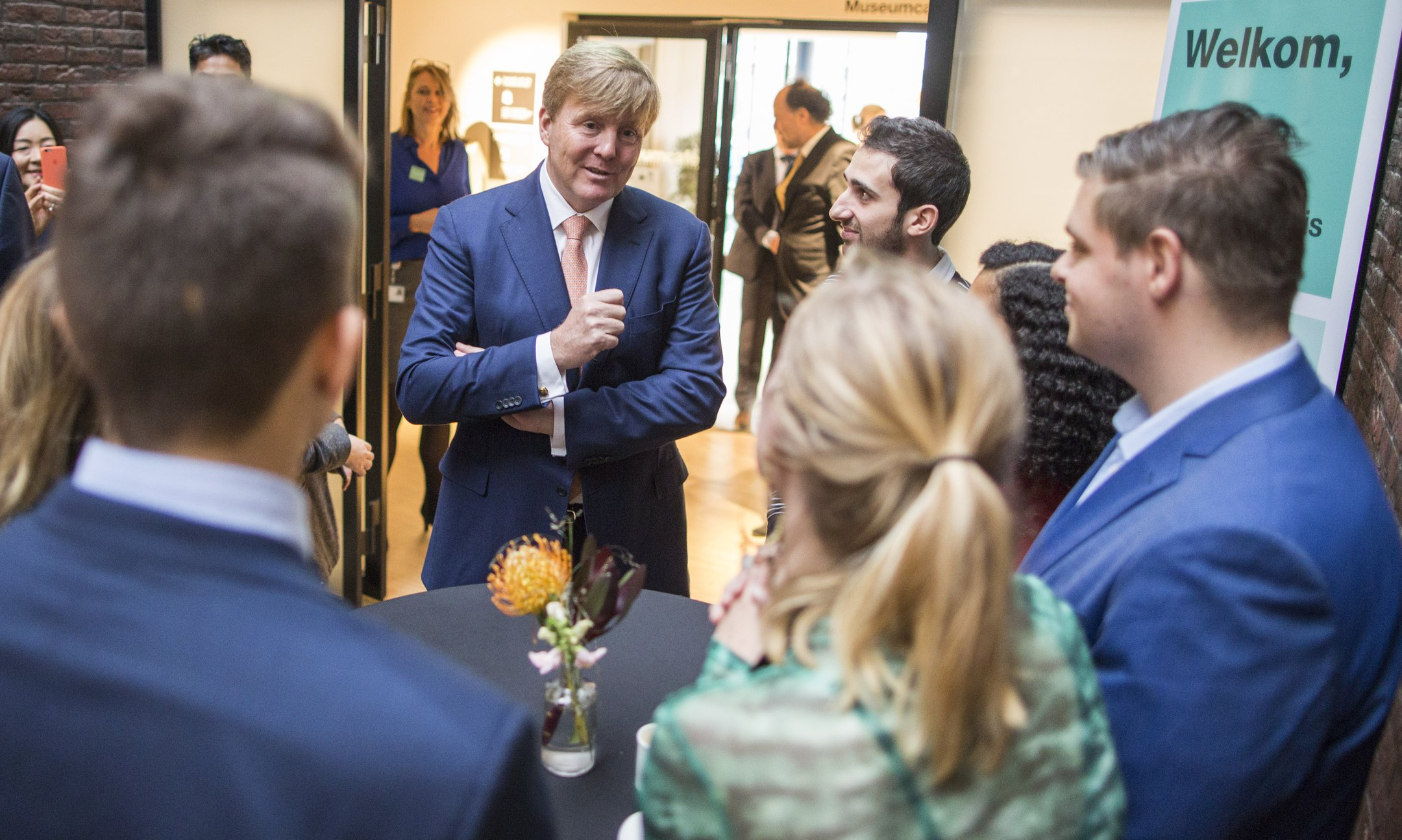 Alumni tell about their experiences with the Youth Team during the opening ceremony of the renewed Anne Frank House in the presence of His Majesty King Willem-Alexander