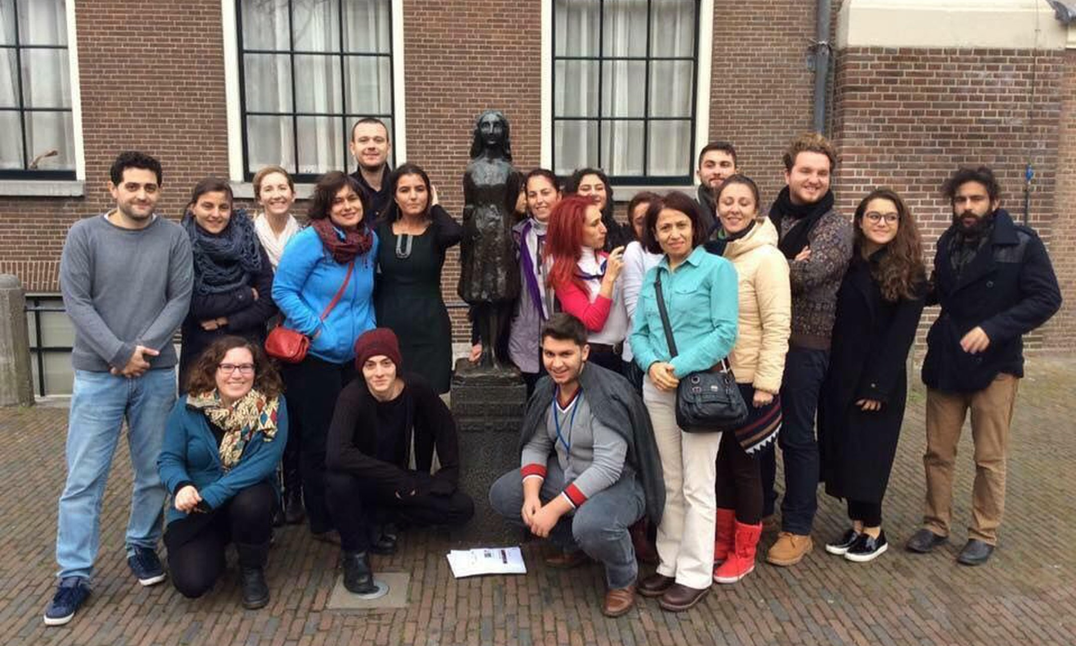 The Turkish youth educators and teacher trainers' visit to the Anne Frank House in Amsterdam