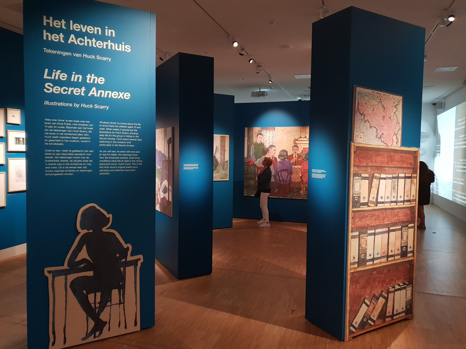 The exhibition 'Life in the Secret Annex - Huck Scarry's Drawings' in the Anne Frank House