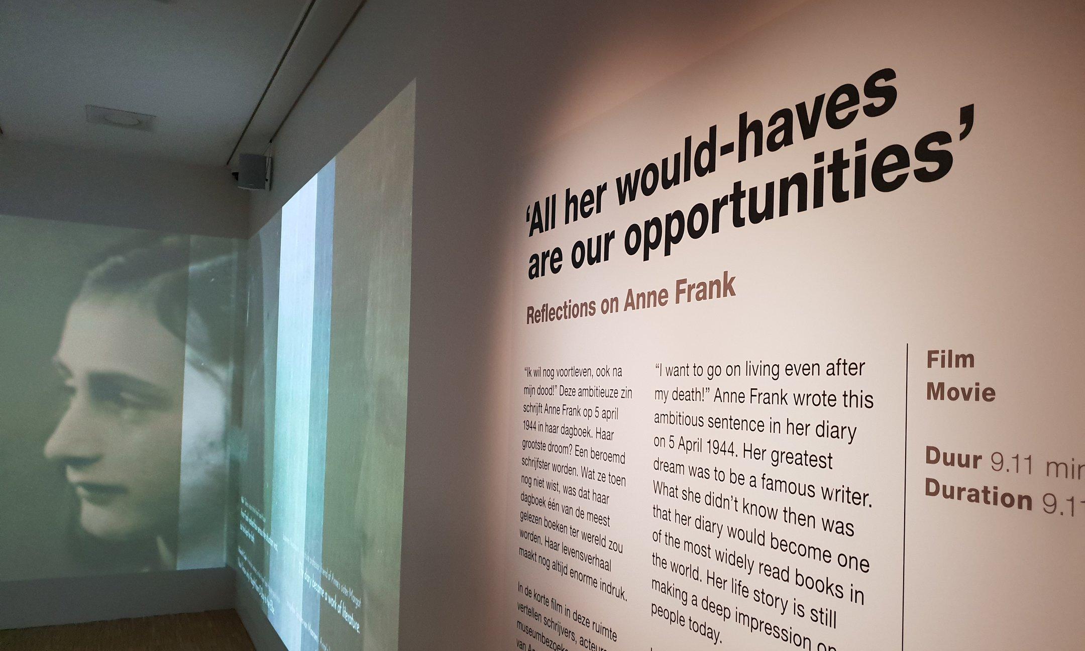 De Reflections tentoonstelling in het Anne Frank Huis