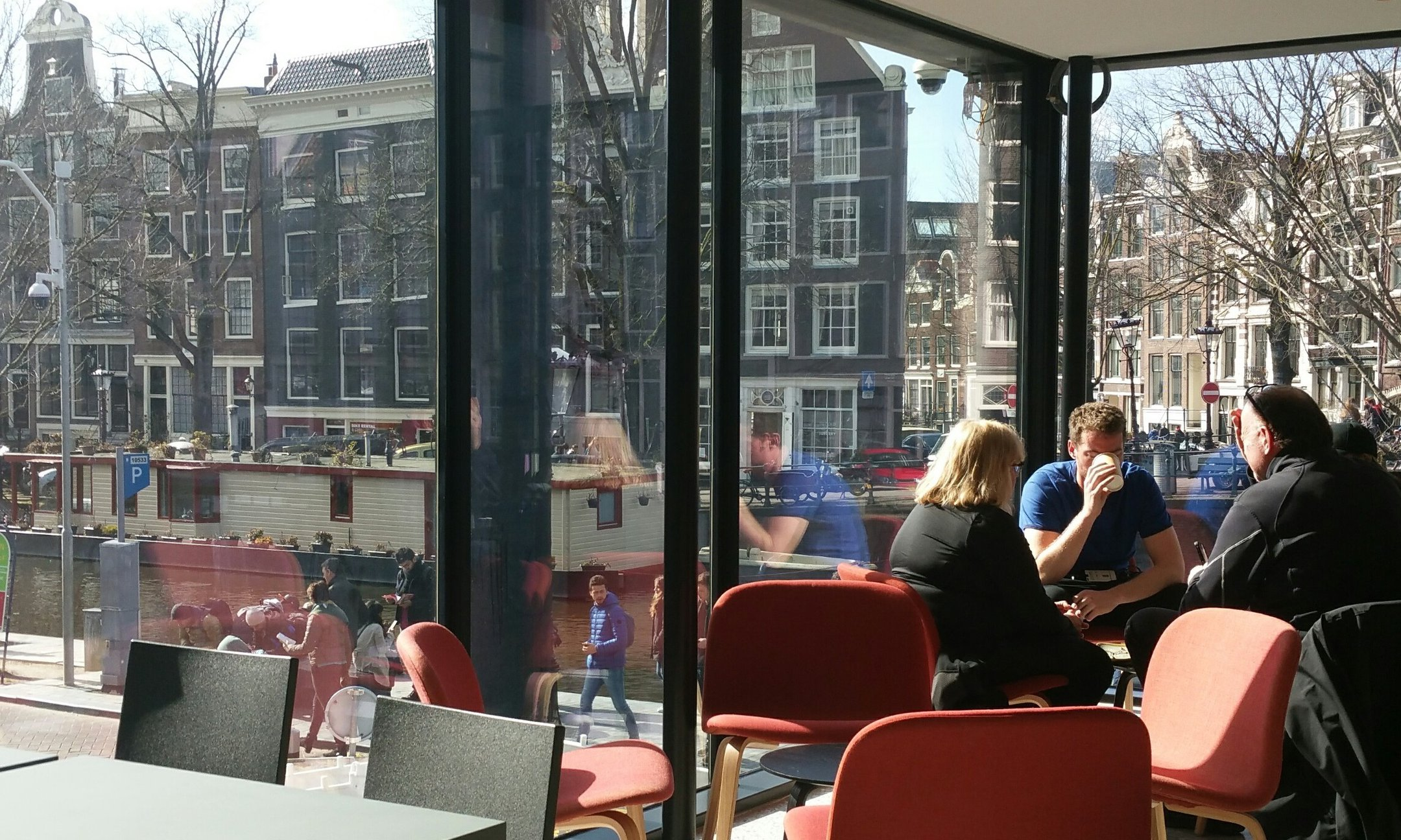 The museum cafe at the Anne Frank House