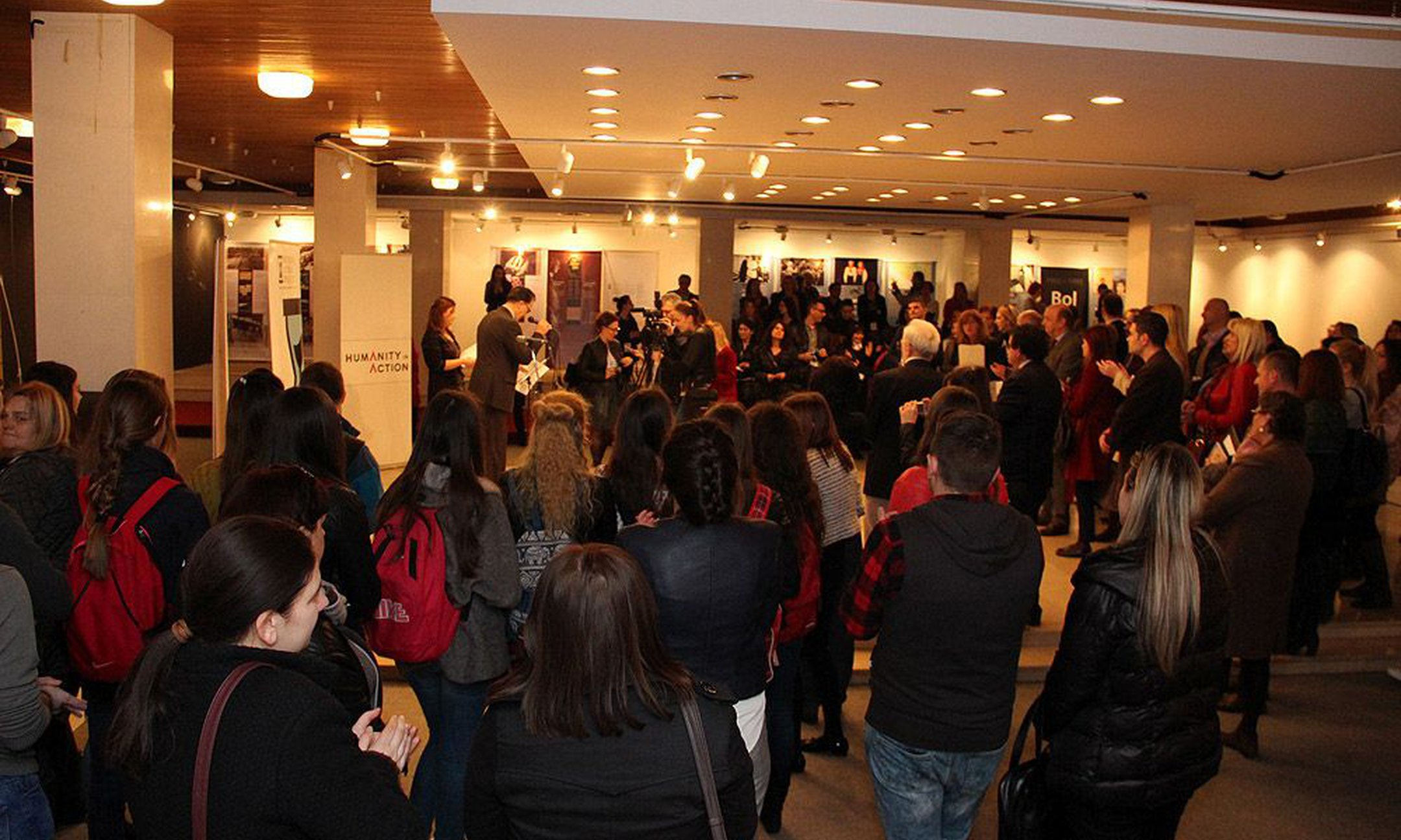 The first exhibition opening in Mostar (March 2015)