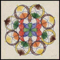 Dibujo de Ana Frank realizado en la escuela 6° Montessorischool