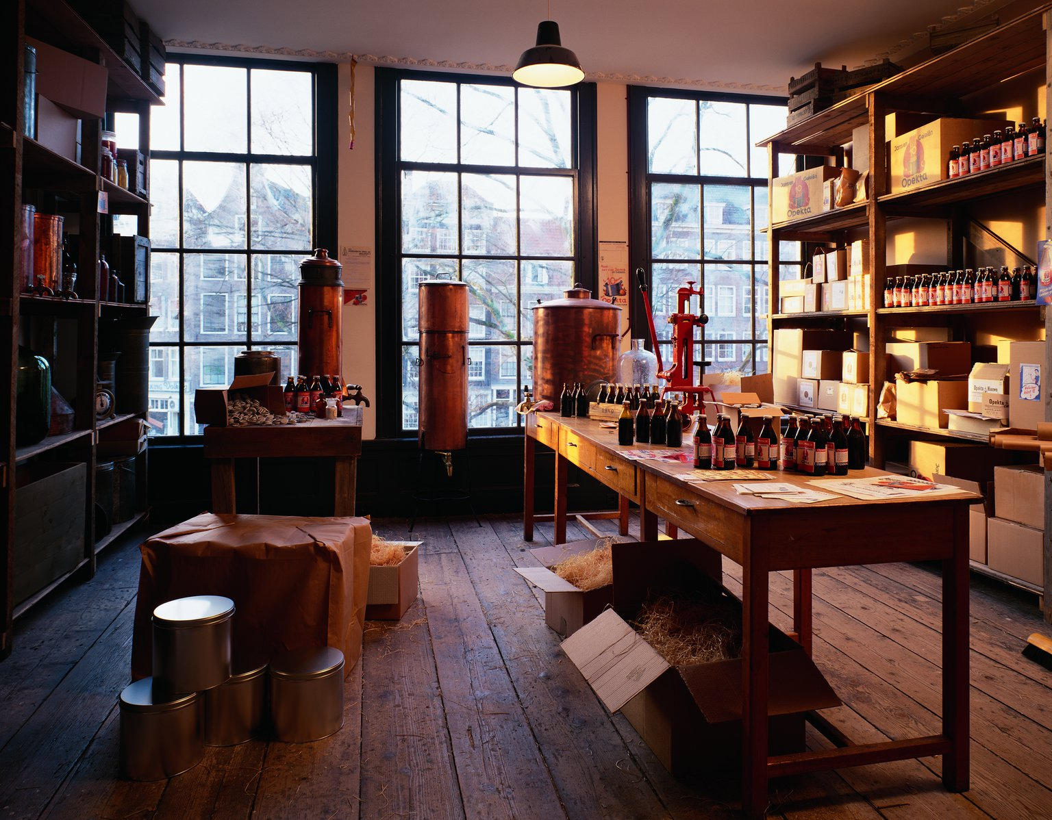 The front storeroom on the second floor of the main house, reconstruction (1999).